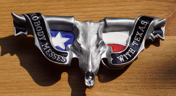 "Buckle / gesp  ""  Nobody messes with Texas """