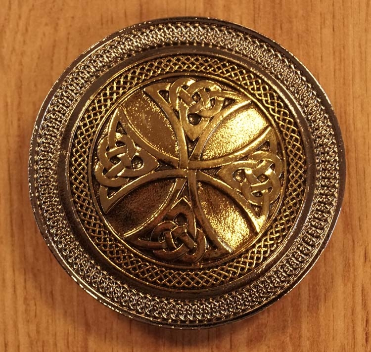 "Buckle / gesp  ""  Two celtic cross knot """