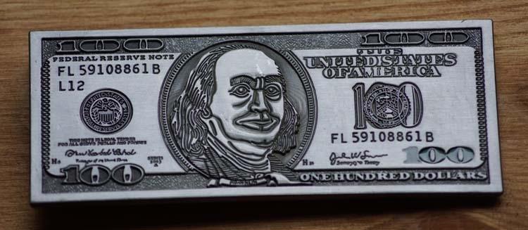 """Buckle / gesp  """" 100 Dollar """""""