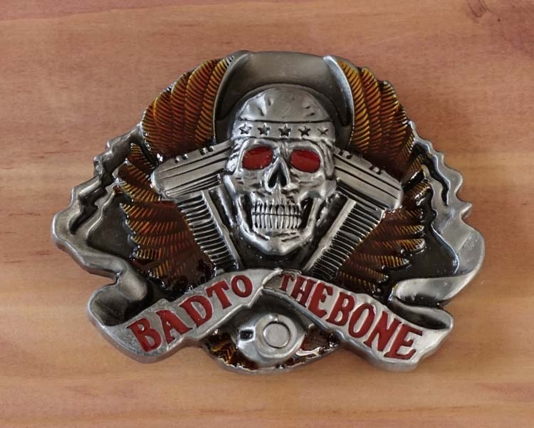 "Buckle / gesp  "" Bad to the bone """