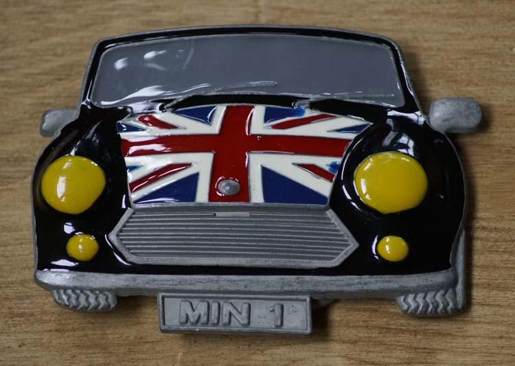 "Buckle / gesp  "" British mini car """