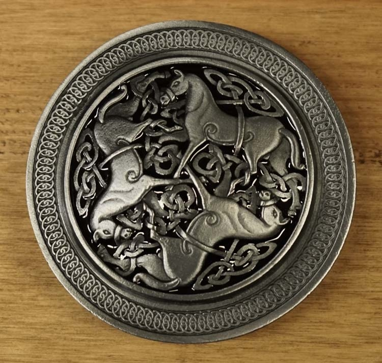 "Buckle / gesp  "" Celtic horses """