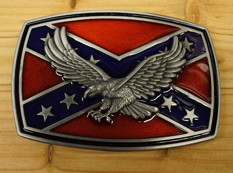 """Buckle / gesp  """" Rebel vlag met adelaar """""""