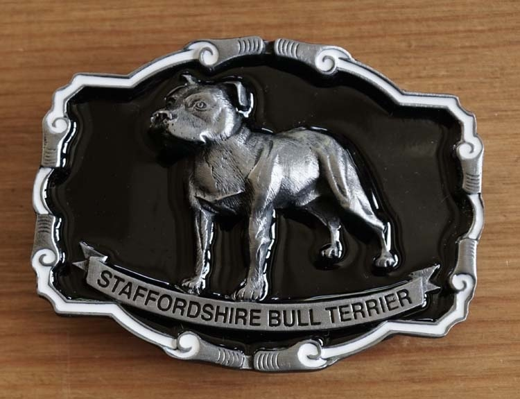 "Buckle / gesp  "" Stafford shire bulldog ""   UITVERKOCHT"