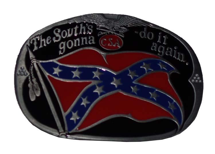 "Buckle / gesp  "" The south's gonna - do it again """