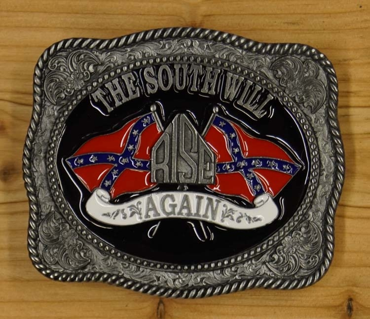 "Buckle / gesp  "" The south will rise again ""   UITVERKOCHT"
