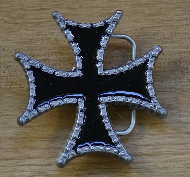 """Buckle / gesp """" Maltezer kruis met ketting """""""