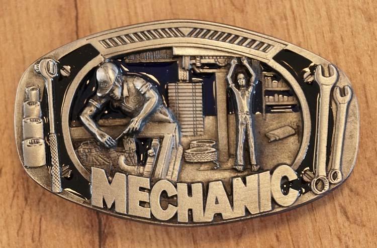 """Buckle / gesp """" Mechanic  """"  ( Monteur )   UITVERKOCHT"""