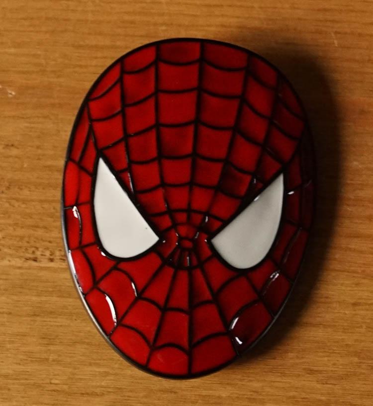 """Buckle / gesp """" Spiderman hoofd """""""