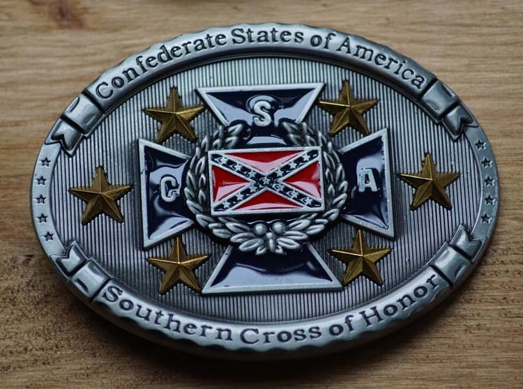 """Buckle """"Confedrate states of America, Southern"""" UITVERKOCHT"""