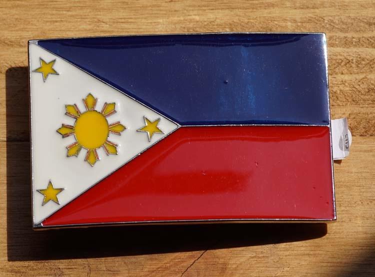 "Gesp buckle  "" Vlag Philippinnes """