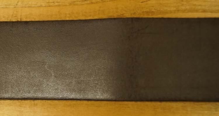 """Leren jeans riem  Donker bruin  """"  Timbelt """" 4 cm breed"""