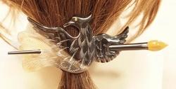 Hoorn haarspeld + haarstokje