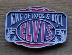 "Elvis buckle  "" King of Rock & Roll Elvis ""  UITVERKOCHT"