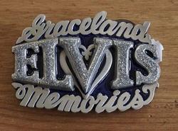 """Elvis buckle  """" Graceland Elvis memories """""""