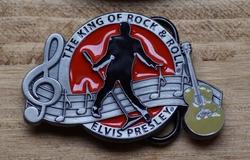 "Elvis buckle  "" The King of Rock & Roll  Elvis """
