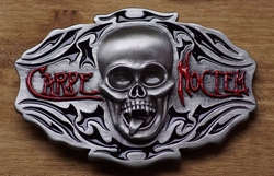 "Belt buckle  "" Carpe Noctem ""   Slaat 's nacht toe"