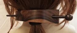 Houten haarspeld met stokje