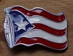 """Gesp buckle  """" Vlag Puerto Rico """""""