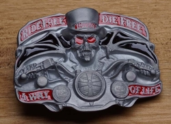 "Belt buckle   "" Rebel free, die Free, away of life """