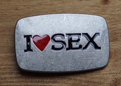 "Sex gesp buckle  "" I love sex """
