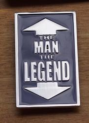 "Humor gesp  "" The man,   The legend """