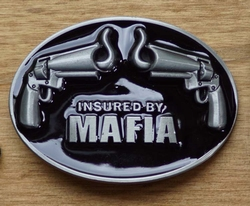 "Humor gesp  "" Insured by mafia """