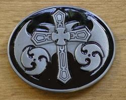 """Buckle / gesp """" Celtic kruis op schild """""""