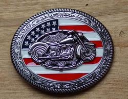 """Motor buckle  """" Motor """" Americaanse vlag"""