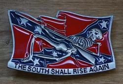 "Gesp buckle  "" The south shall rise again """