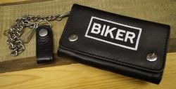 """Motorrijder portefeuille   """" Biker """"   Zwart"""