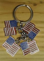 """Sleutelhanger  """"  4 Americaanse vlag """""""