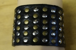 Leren brede armband