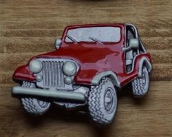 "Verzamel buckle auto  "" Jeep ""  Rood"