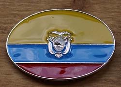 """Gesp buckle  """" Vlag Ecuador """""""