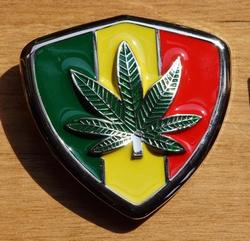 "Buckle  "" Rasta vlag + marijuana ""    UITVERKOCHT"