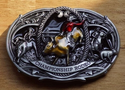 "Buckle / gesp  "" Rodeo rider ""   Championship rodeo"