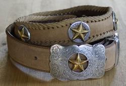 Sterling zilver western buckle riem