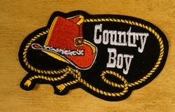 """Strijkapplicaties  """" Country boy """""""