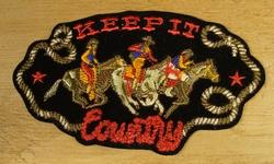 """Strijkapplicaties  """" Keep it country """"   Cowboys"""
