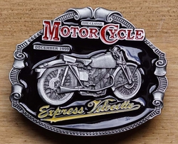 "Motor cylce buckle  "" Express Velocette """