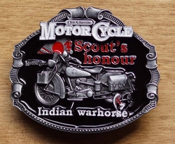"Motor cylce buckle  "" Scout's hounour Indian"""