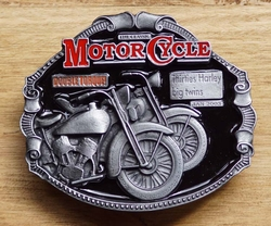 "Motor cylce buckle  "" Thirties Harley big twins """