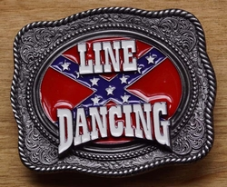 "Buckle  "" Line dancing ""  Rebelvlag"