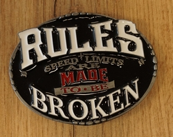 """Motor buckle  """" Live to ride,  Ride to live """""""