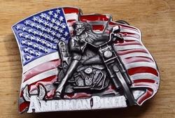 "Motor buckle  "" American biker """