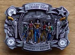 """Western buckle  """" James gang legend heroes """""""