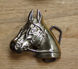 """Riem buckle  """" Paard """"  Goudkleurig"""