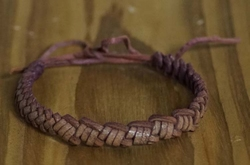 Smalle leren armband