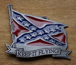 "Buckle / gesp  "" Keep it flying ""   Rebelvlag"